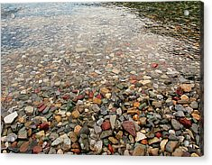 Acrylic Print featuring the photograph Waterton Lakes Shore by Trever Miller