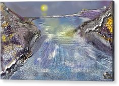 Waterway Rush Acrylic Print by Gregory Steward