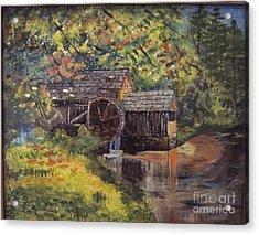 Waterwheel In Autumn Acrylic Print