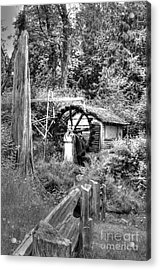 Waterwheel In Black And White Acrylic Print