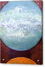 Acrylic Print featuring the painting Waterworld by Carolyn Goodridge