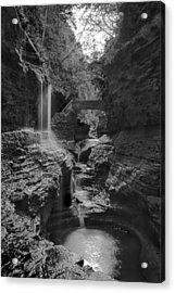 Watkins Glen 02 Bw Acrylic Print