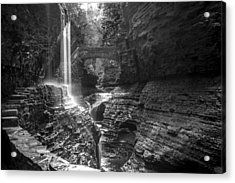 Watkins Glen 04 Bw Acrylic Print