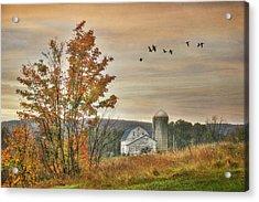 Watkins Glen Farm Acrylic Print by Lori Deiter