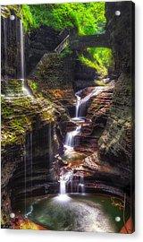 Watkins Glen Rainbow Falls Acrylic Print