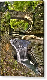 Watkins Glen Waterfalls Acrylic Print