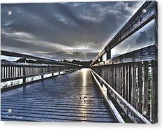 Watson Bayou Pier Hdr Acrylic Print