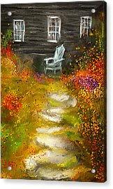 Watson Farm - Old Farmhouse Painting Acrylic Print by Lourry Legarde