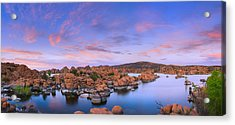 Watson Lake In Prescott - Arizona Acrylic Print by Henk Meijer Photography