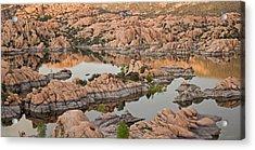 Watson Lake Sunset Acrylic Print
