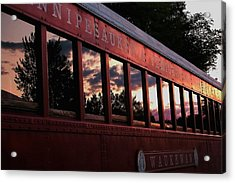Waukewan Train Acrylic Print