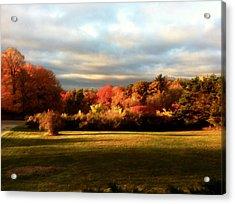 Waupaca Sunset Acrylic Print by David Blank