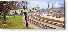 Wauwatosa Railroad Sign 2 Acrylic Print