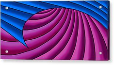 Acrylic Print featuring the digital art Wave - Blue And Plum by Judi Quelland