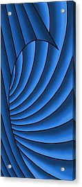 Acrylic Print featuring the digital art Wave - Blues by Judi Quelland