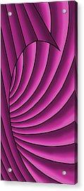 Acrylic Print featuring the digital art Wave - Fuchsia  by Judi Quelland