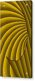 Acrylic Print featuring the digital art Wave - Golds by Judi Quelland