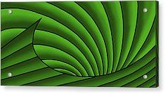 Acrylic Print featuring the digital art Wave - Greens by Judi Quelland