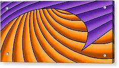 Acrylic Print featuring the digital art Wave - Purple And Orange by Judi Quelland