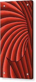 Acrylic Print featuring the digital art Wave - Reds by Judi Quelland