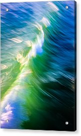 Acrylic Print featuring the photograph Wave Abstract Triptych 1 by Brad Brizek