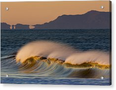 Acrylic Print featuring the photograph Wave And Island 73a5281 by David Orias
