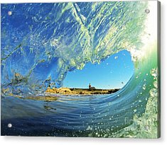 Wave And Lighthouse 1 Acrylic Print by Paul Topp