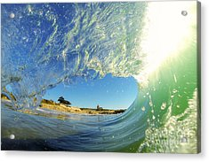 Acrylic Print featuring the photograph Wave And Lighthouse 3 by Paul Topp