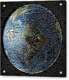 Wave At Earth Mosaic Acrylic Print by Nasa/jpl-caltech