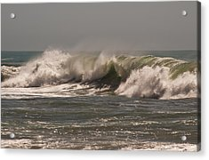 Acrylic Print featuring the photograph Wave At Kirk Creek Beach by Lee Kirchhevel