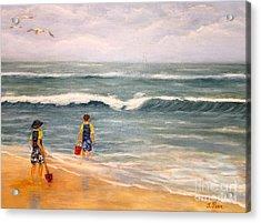 Wave Gazing Acrylic Print