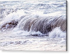 Wave In Stormy Ocean Acrylic Print by Elena Elisseeva