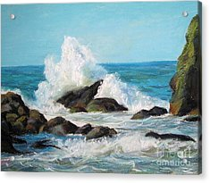 Acrylic Print featuring the painting Wave by Jieming Wang