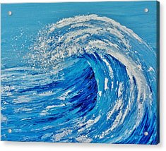 Acrylic Print featuring the painting Wave by Katherine Young-Beck