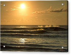 Waves Of Life Acrylic Print by Skip Tribby