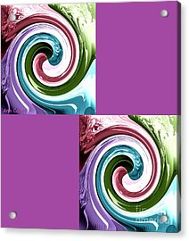 Wave Of Purple Acrylic Print by Ann Calvo