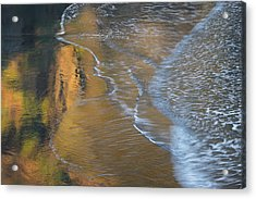 Wave Reflections 4 Acrylic Print by Leland D Howard