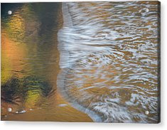 Wave Reflections 6 Acrylic Print by Leland D Howard