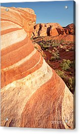 Wave Rocks Acrylic Print by Jane Rix