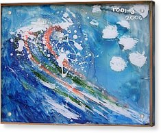 Wave Acrylic Print by Rooma Mehra
