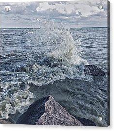 Acrylic Print featuring the photograph Wave Splash by Nikki McInnes