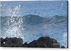 Wave - Vague - Ile De La Reunion - Island Reunion Acrylic Print by Francoise Leandre