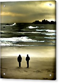 Wave Watchers Acrylic Print by Dale Stillman