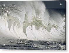 Wave Whitewash Acrylic Print by Vince Cavataio
