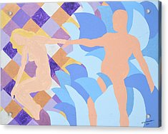 Acrylic Print featuring the painting Waved by Erika Chamberlin