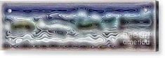 Abstract Waves 15 Acrylic Print by Walt Foegelle