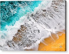 Waves Abstract Acrylic Print