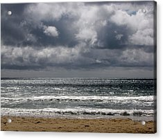 Waves And Beach Acrylic Print by Karen E Phillips