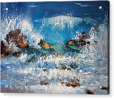 Waves And Stones Acrylic Print