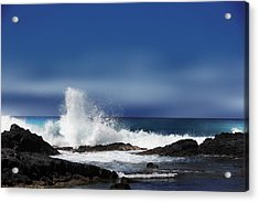 Acrylic Print featuring the photograph Waves by Athala Carole Bruckner
